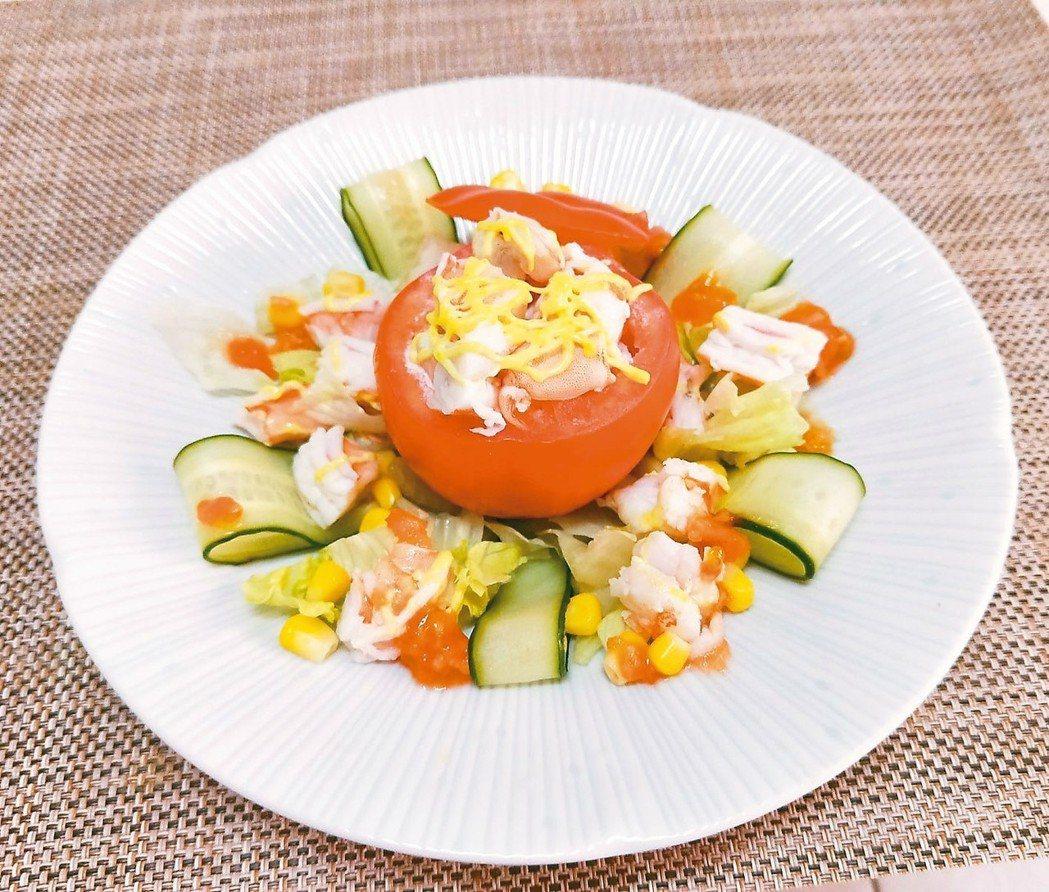 鮮蝦番茄盅 圖/陳芸英