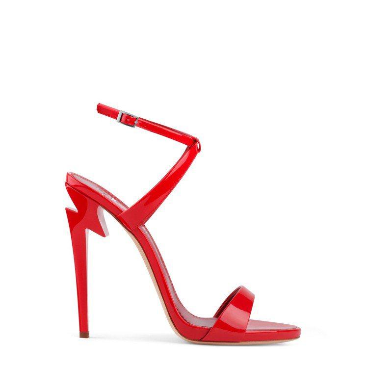 「G-Heel」高跟繫帶涼鞋,約台幣30,000元。圖/Giuseppe Zan...
