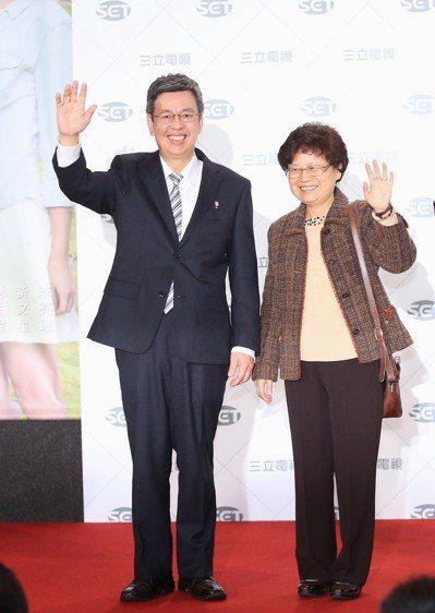 副總統陳建仁申報,和太太共持有十張保單。 圖/聯合報系資料照片