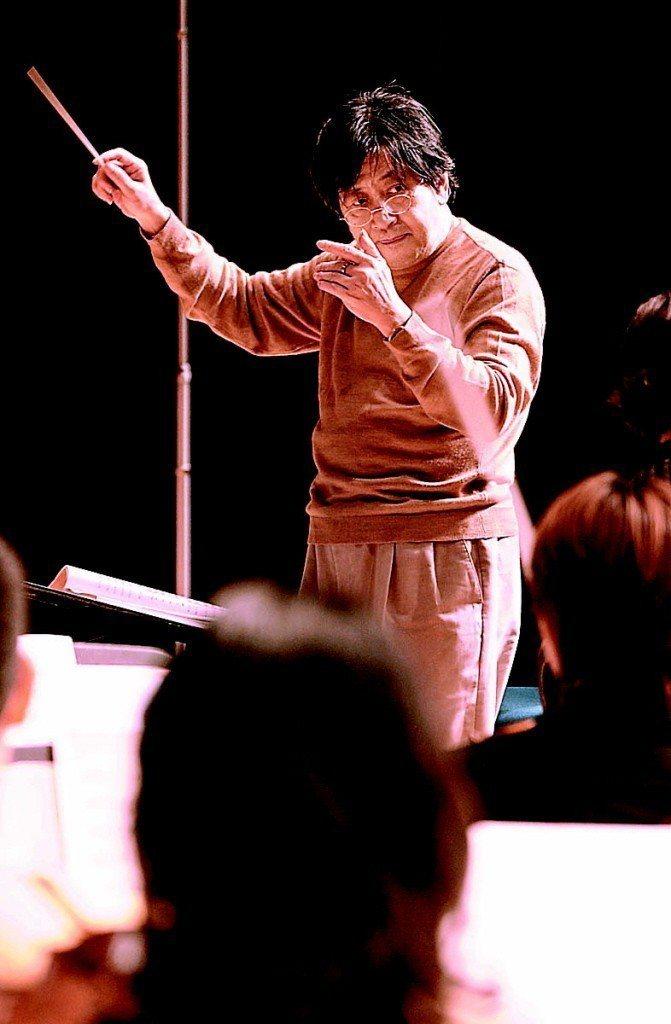 「台灣指揮教父」之稱的著名指揮陳秋盛今晨睡夢中辭世,享壽76歲。 聯合報系資料照...