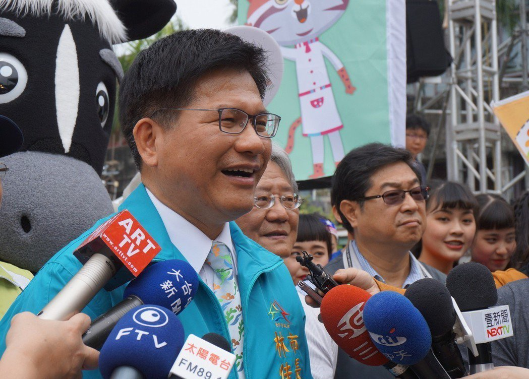 台中市長林佳龍申報和家人共持有15張保單。 圖/聯合報系資料照片