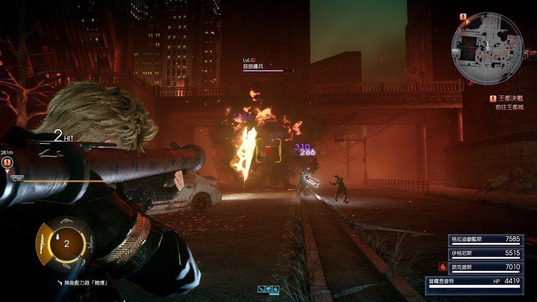 操作對象切換到普羅恩普特,遊戲玩法瞬間變成第三人稱射擊遊戲。
