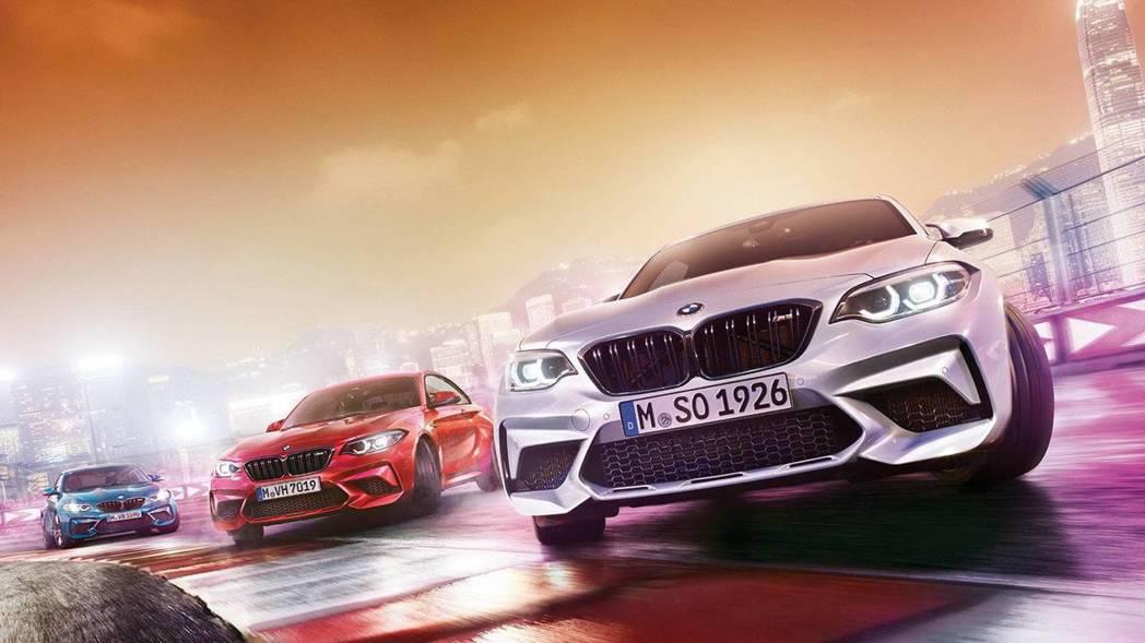 BMW M2 Competition全新設計的前保桿更為張狂。 摘自BMW