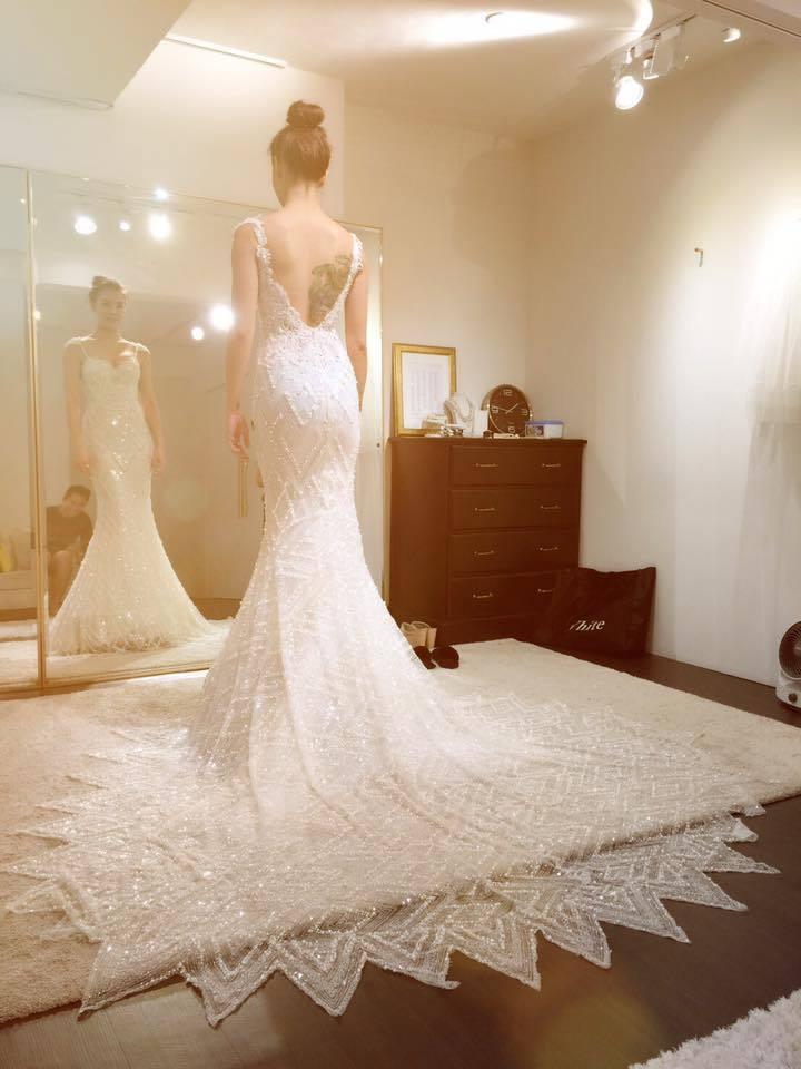劉雨柔去年登記結婚,近來分享了多張婚紗照。 圖/擷自臉書。