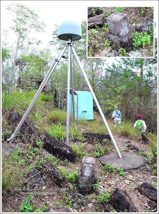 ↑松風山頂的山字三角點,旁邊還有氣象局的地殼形變觀測站。