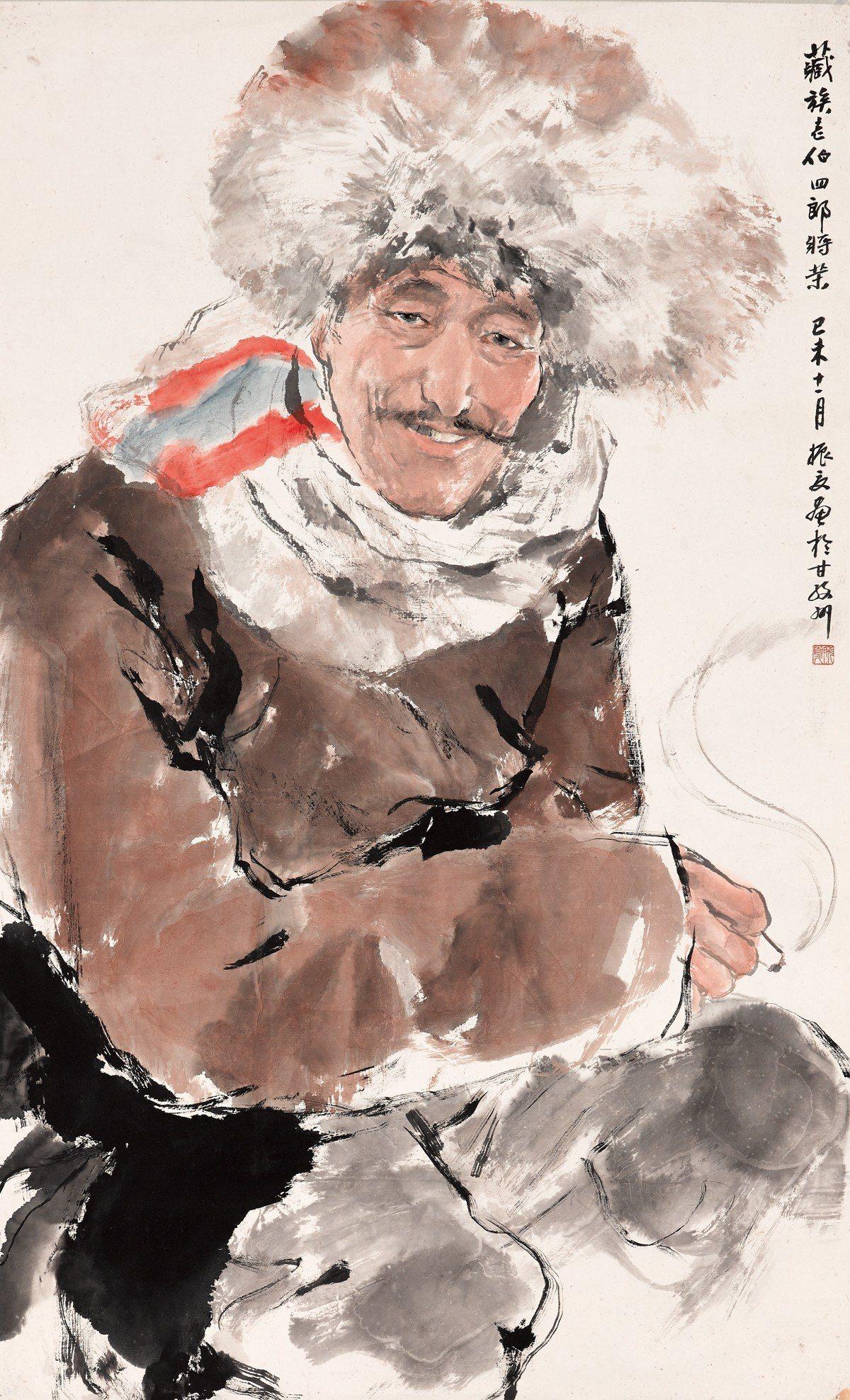 劉振夏 四郎 1979 95.3x58.4cm