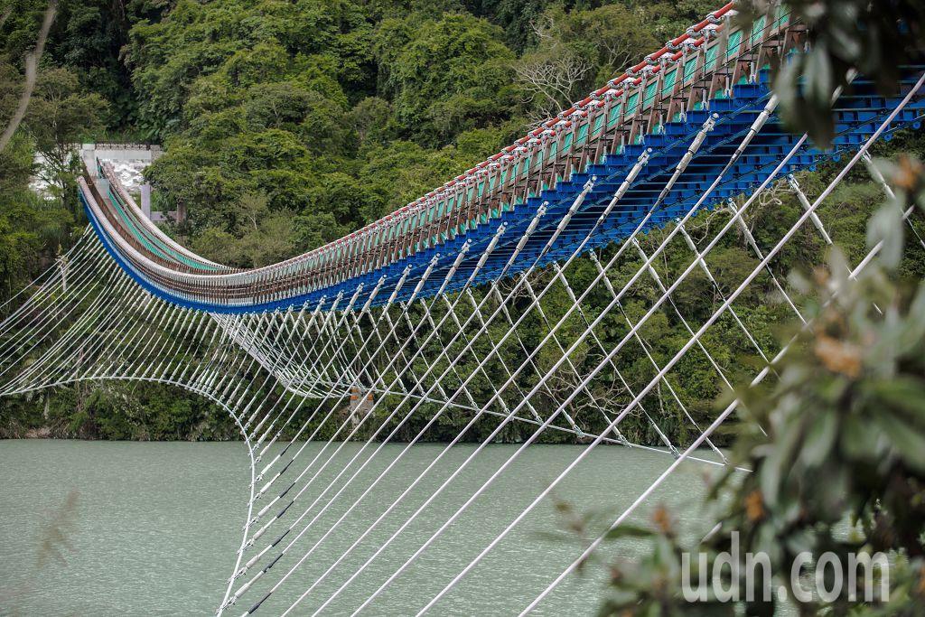角板山新溪口吊橋,全台最長的吊橋。記者許政榆/攝影