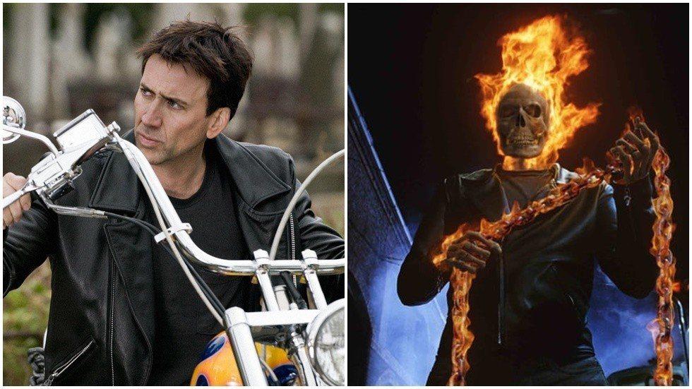 尼可拉斯凱吉曾演過超級英雄電影「惡靈戰警」。圖/索尼提供