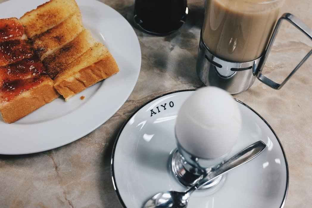 愛養珈琲最經典的早餐組合。記者黃仕揚/攝影