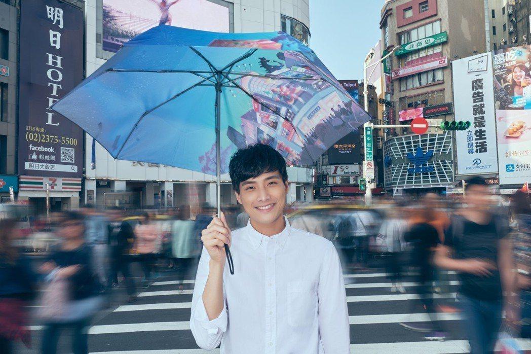 新銳男星陳彥名為金馬奇幻影展拍攝視覺廣告。圖/金馬執委會提供