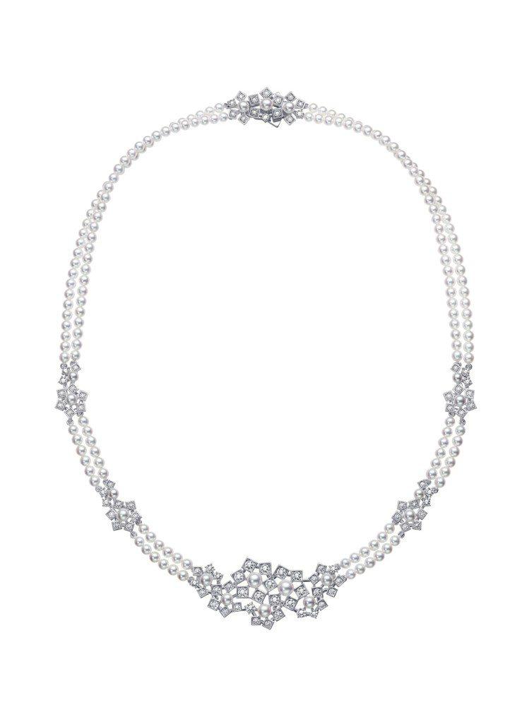 TASAKI floral stars鑽石珍珠白K金項鍊,99萬元。圖/TASA...