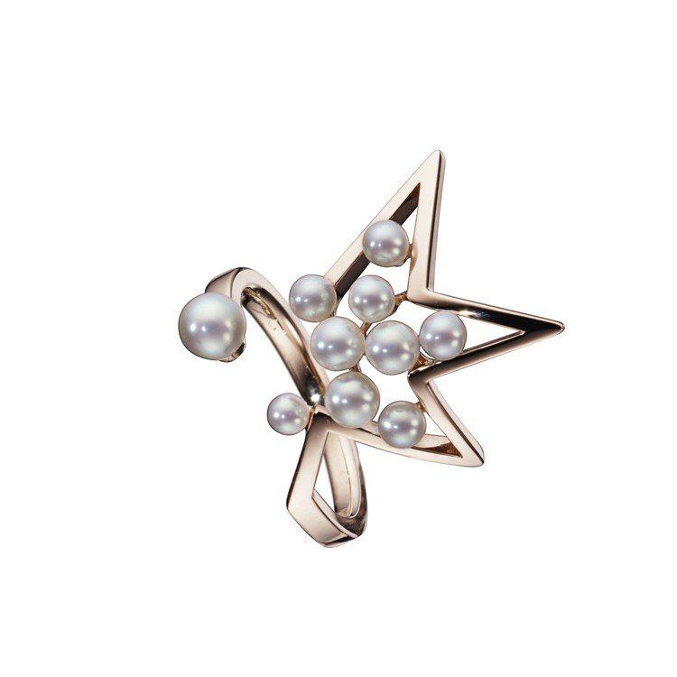 TASAKI abstract star 珍珠櫻花金戒指,70,500元。圖/T...
