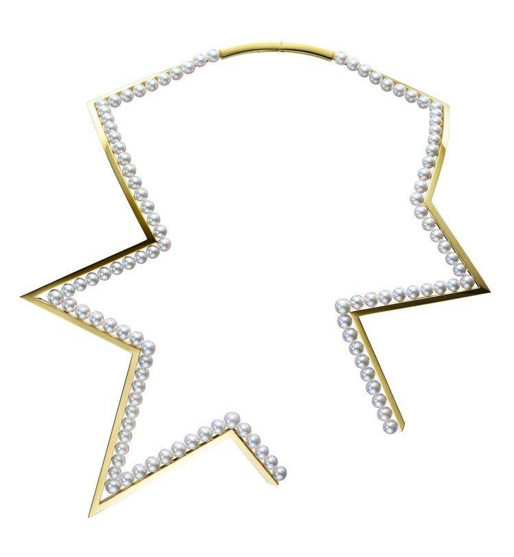 TASAKI abstract star珍珠黃K金項鍊,245萬元。圖/TASA...