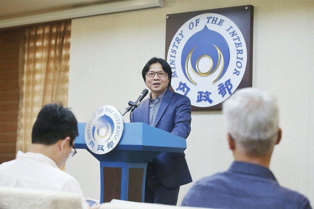 內政部葉俊榮下午舉辦記者會,否認在對岸兼任教職。記者楊萬雲/攝影