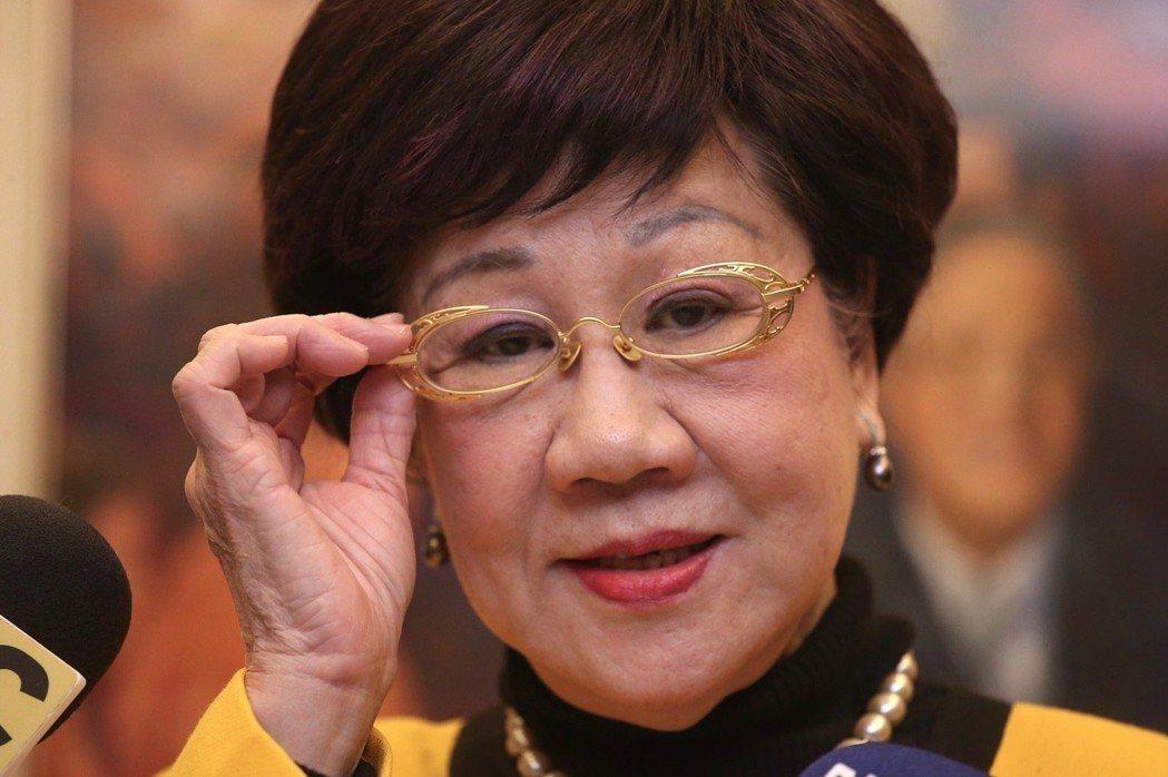 呂秀蓮選戰勝率百分百,一直很不滿民進黨台北市禮讓柯文哲,這次堅持參選到底。 圖/...