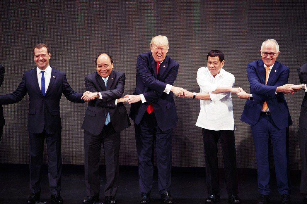 其它國家對於組成圍堵中國的聯盟,真的如康燦雄所言的「興趣缺缺」嗎? 圖/美聯社