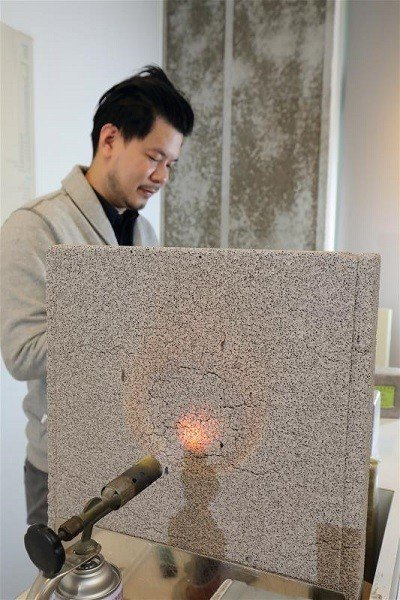 防火、隔熱、隔音又質輕的「安新輕質節能磚」, 符合未來建材節能、環保的需求。
