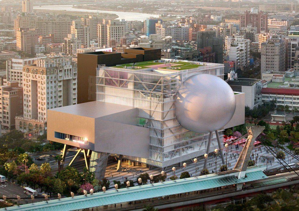 台北表演藝術中心模擬圖。圖/北藝中心提供