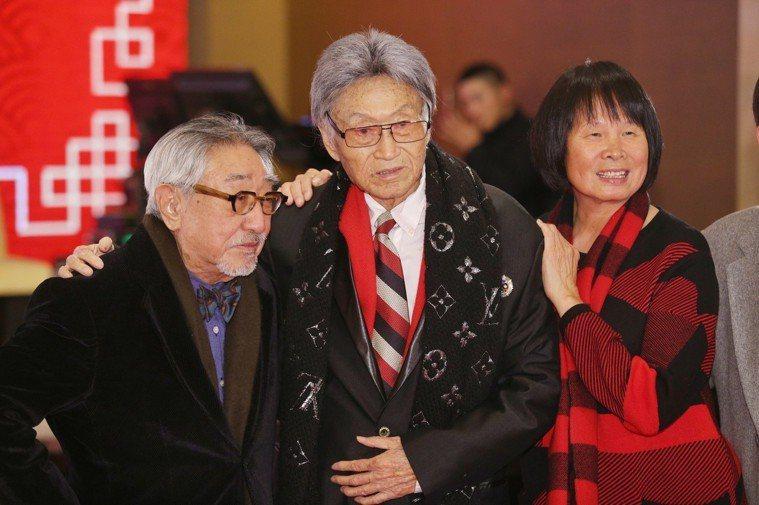 傅達仁兒子婚禮時,紀政(右)、孫越(左)也到場祝賀。圖/聯合報系資料照
