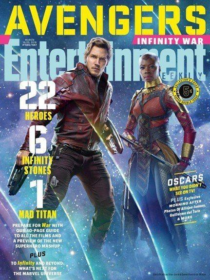 「星際異攻隊」與「黑豹」團隊也加入「復仇者聯盟3:無限之戰」的陣容。圖/摘自EW