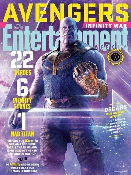 超級反派薩諾斯在「復仇者聯盟3:無限之戰」引起英雄大結盟。圖/摘自EW