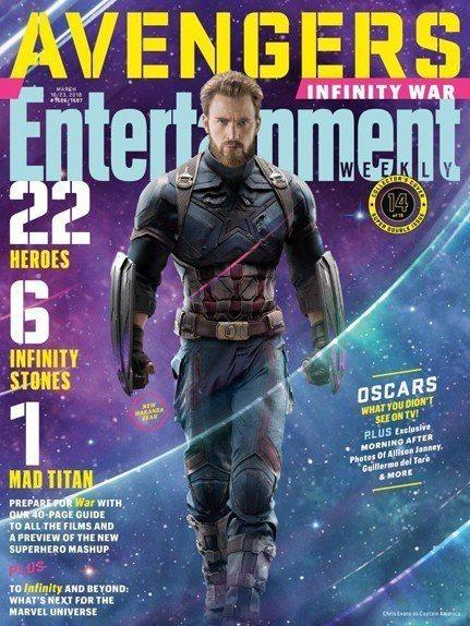 美國隊長在「復仇者聯盟3:無限之戰」以全新面貌出現。圖/摘自EW