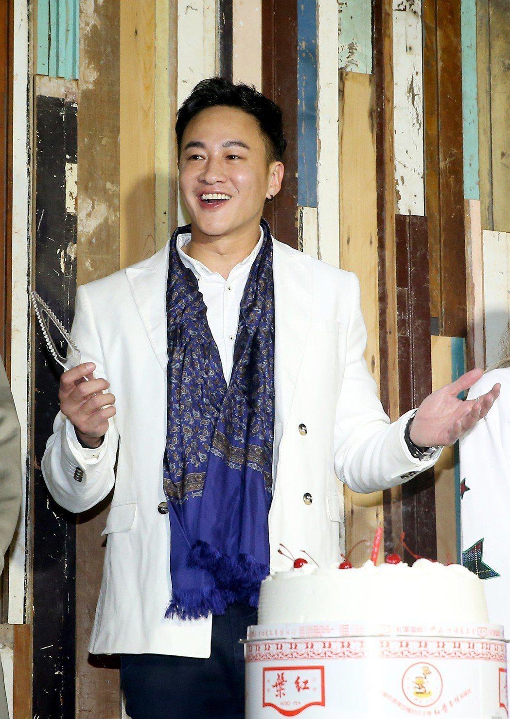 何潤東舉辦出道20年慶生茶會。記者余承翰/攝影