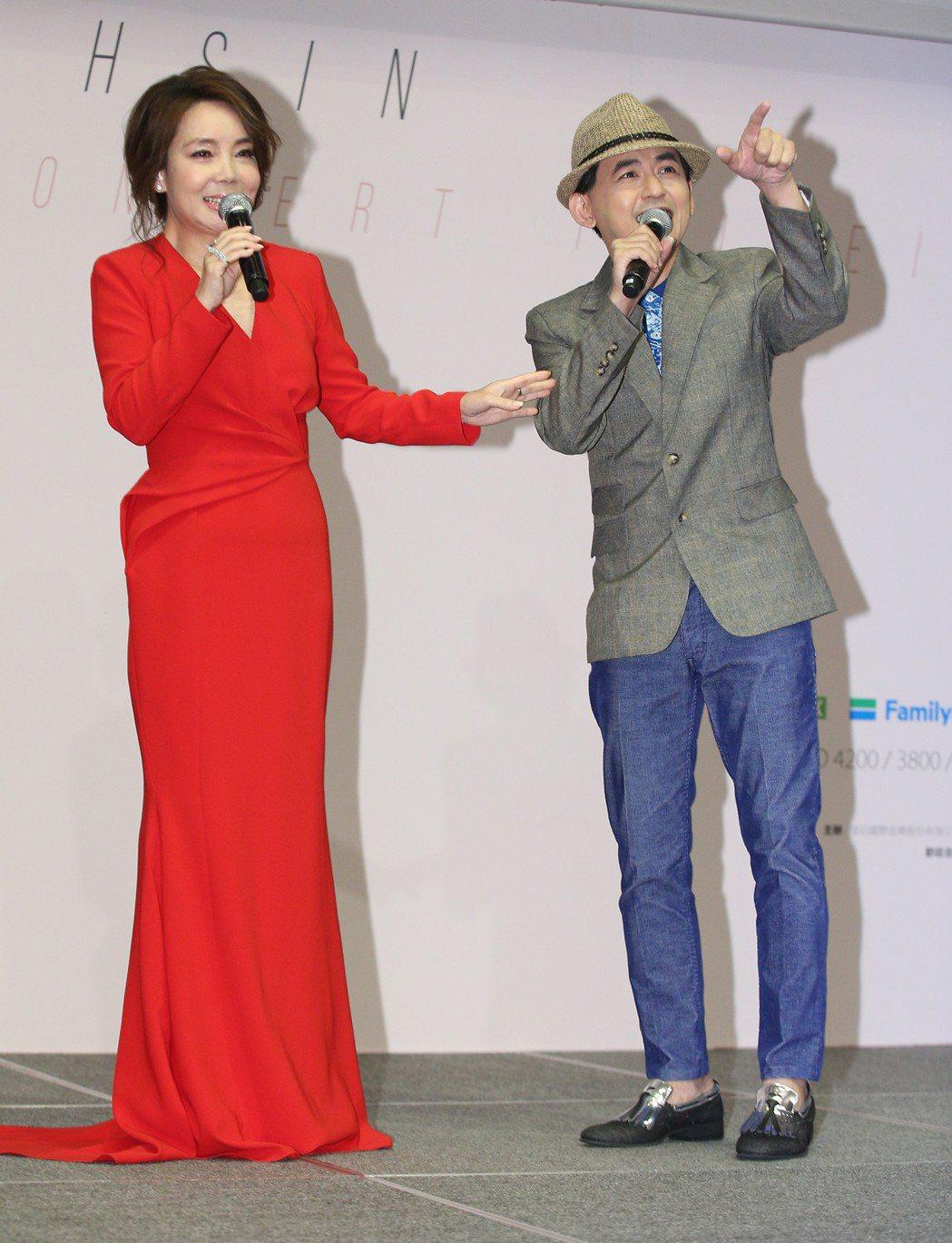 歌手辛曉琪舉行記者會,宣布將在小巨蛋舉辦演唱會。記者陳正興/攝影