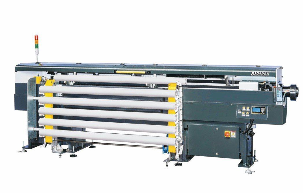 富豪機電長棒材送料機棒材直徑送料範圍達0.8~110mm。 富豪機電/提供