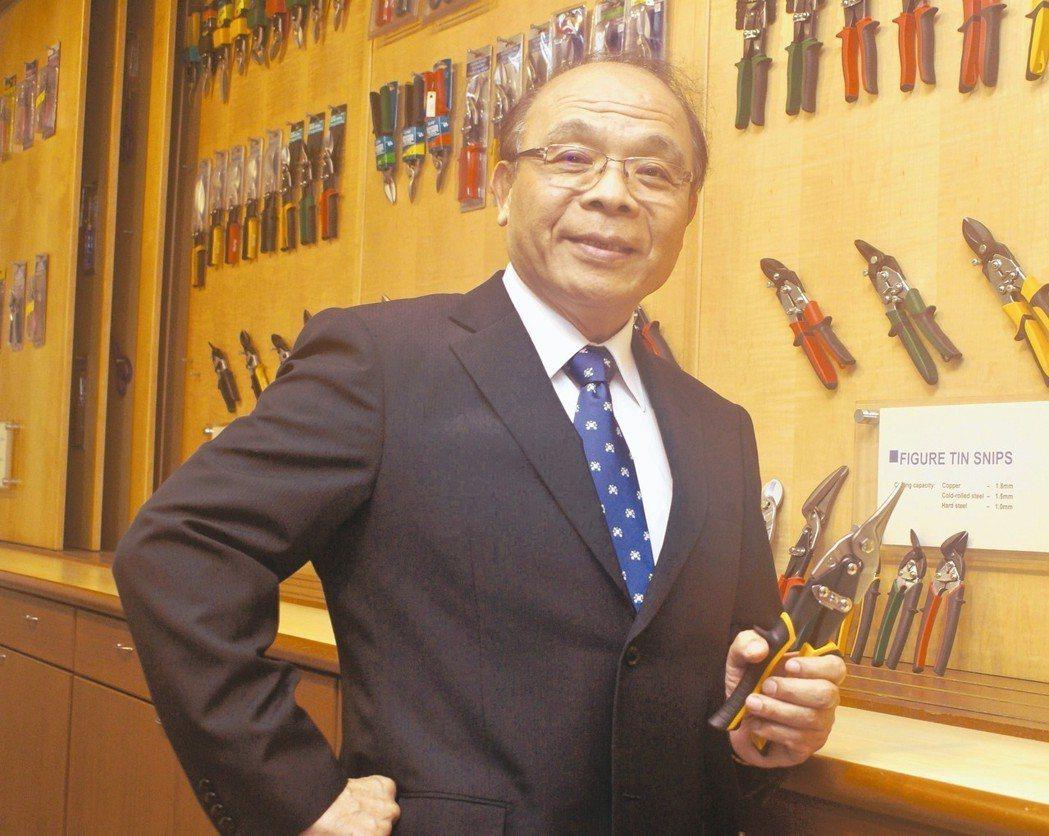 皇盈自創品牌「ALLPRO」幾乎已成為全球市場鐵皮剪刀代名詞。 吳青常/攝影