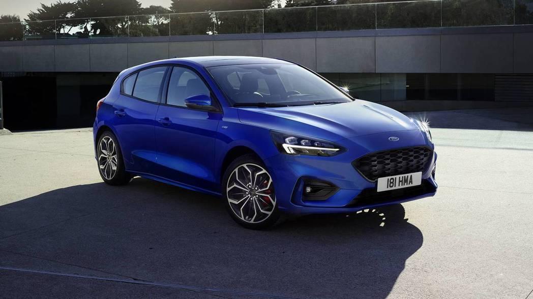 圖為第四代Ford Focus (此為ST-Line版)。 摘自Ford