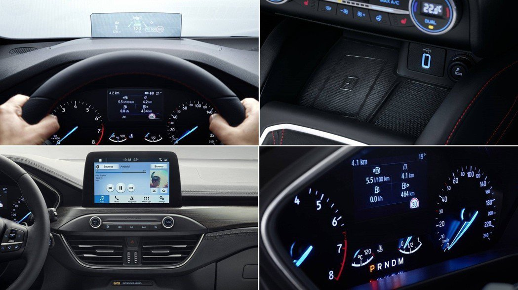 全新Ford Focus採用了全彩抬頭顯示器。 摘自Ford