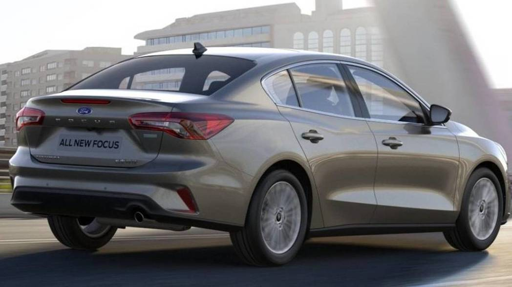 圖為第四代Ford Focus (此為四門房車版)。 摘自Ford