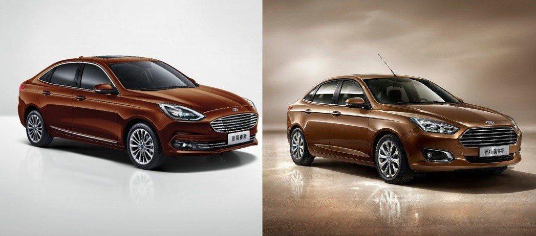 圖左:小改款後 圖右:小改款前。 摘自Ford