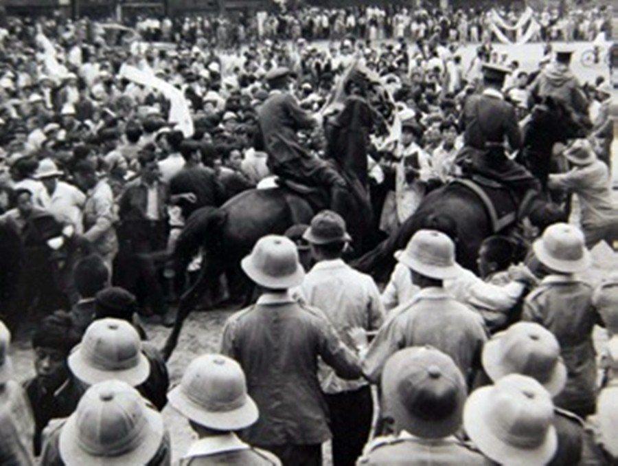 1947年3月1日——台灣二二八事件發生隔天——濟州島的三一獨立運動日示威活動現...