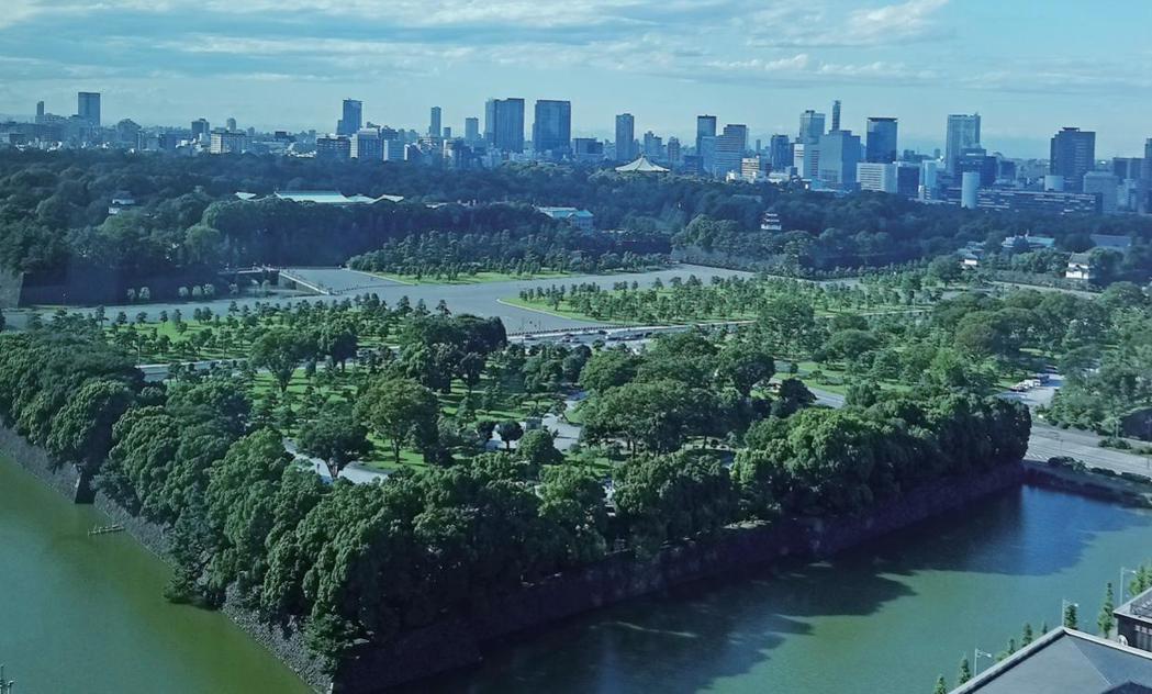 皇居一景。《東京歷史迷走》/時報出版提供