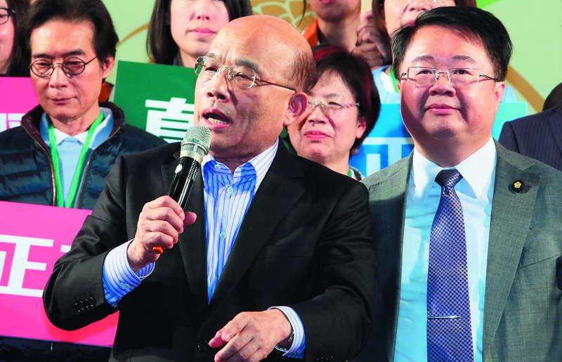 蘇貞昌(左)帶著吳秉叡(右)「衝衝衝」,如今只剩追憶。 攝影/柯承惠