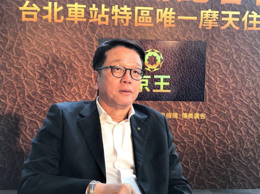 傳真機構董事長王明成。 記者游智文/攝影