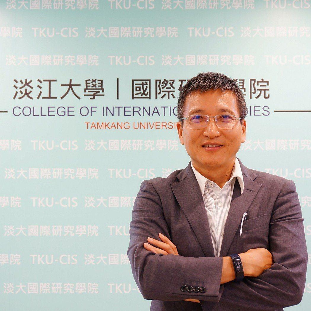 淡江大學中國大陸研究所副教授張五岳。淡江大學國際研究學院