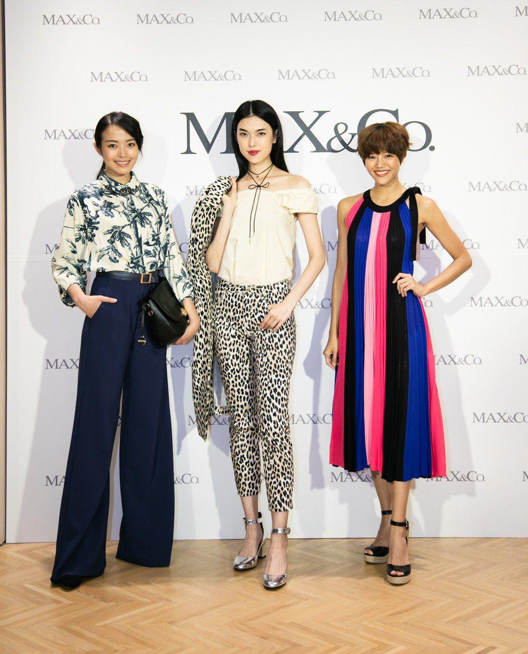 伊林名模王思偉、李培毓等詮釋品牌最新春夏單品。圖/MAX&Co.提供