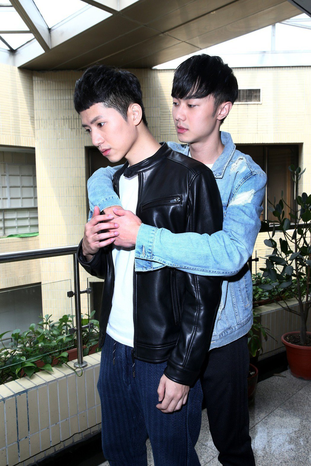楊孟霖(左)與施柏宇(右)專訪。記者蘇健忠/攝影