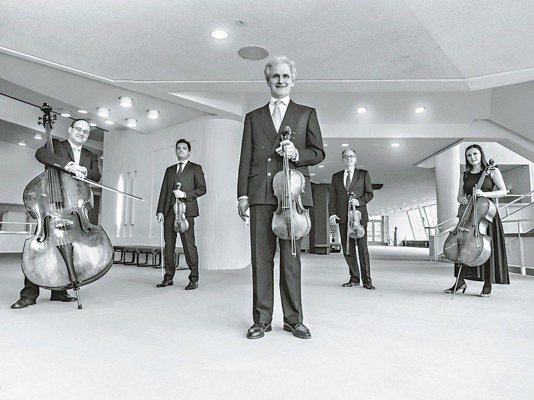 柏林愛樂弦樂五重奏七月再登台。 圖╱聯合數位文創提供