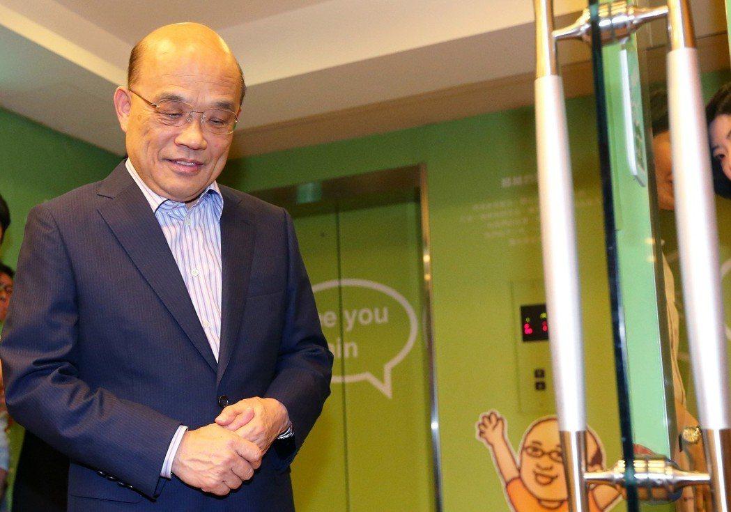 預計代表民進黨出徵新北市長的蘇貞昌,今年已71歲。 圖/聯合報系資料照片