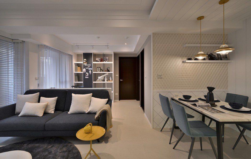 悅光北歐3房設計,汲取北歐森林元素,以三種悅色呈現空間風格。 圖片提供/都市建設