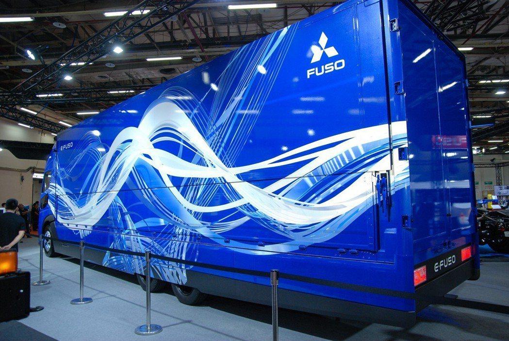 E-FUSO Vision One 造價近億台幣,採用300kWh的高效電池模組,滿電狀況下續航力可達350km。 記者林鼎智/攝影
