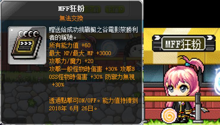 玩家透過進行小遊戲可獲得通關卡印章,集滿印章即可獲得「MMF狂粉稱號」。