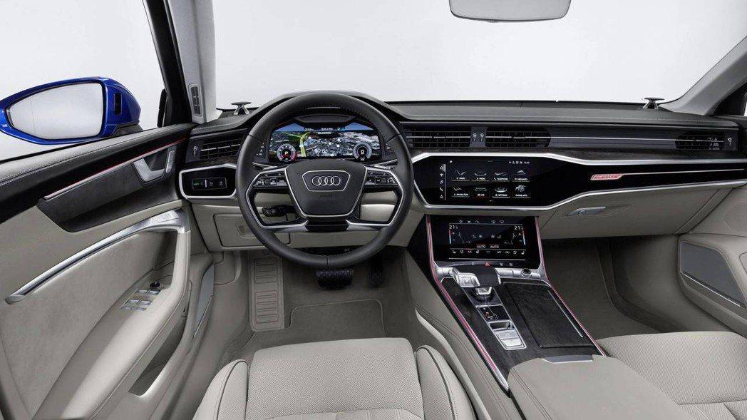圖為全新Audi A6 Avant 車室。 摘自Audi