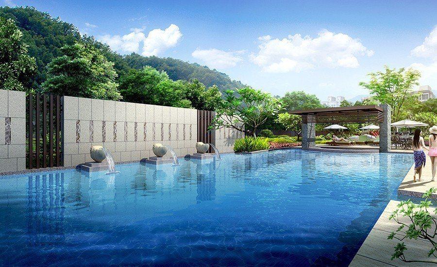 【合陽天擎】規劃多元休閒設施,營造如渡假般的生活高質感 (3D示意圖) 圖/合陽...