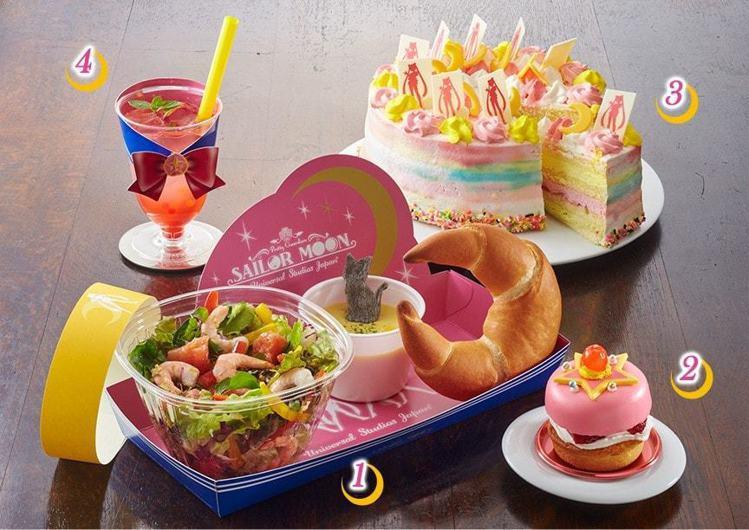 大阪環球影城推出全新期間限定《美少女戰士》4D劇場,周邊餐點造型超可愛。圖/摘自...