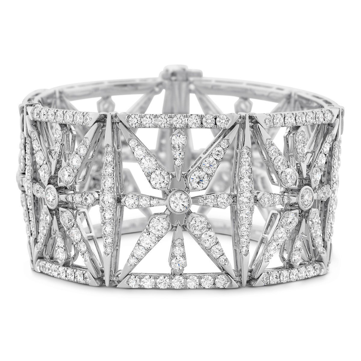 Triplicity幾何圖騰鑽石手環,18K白金鑲嵌鑽石總重22.5克拉,341...